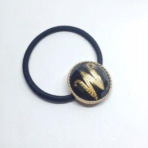 NWOT Madewell Black Resin Logo Hair Tie